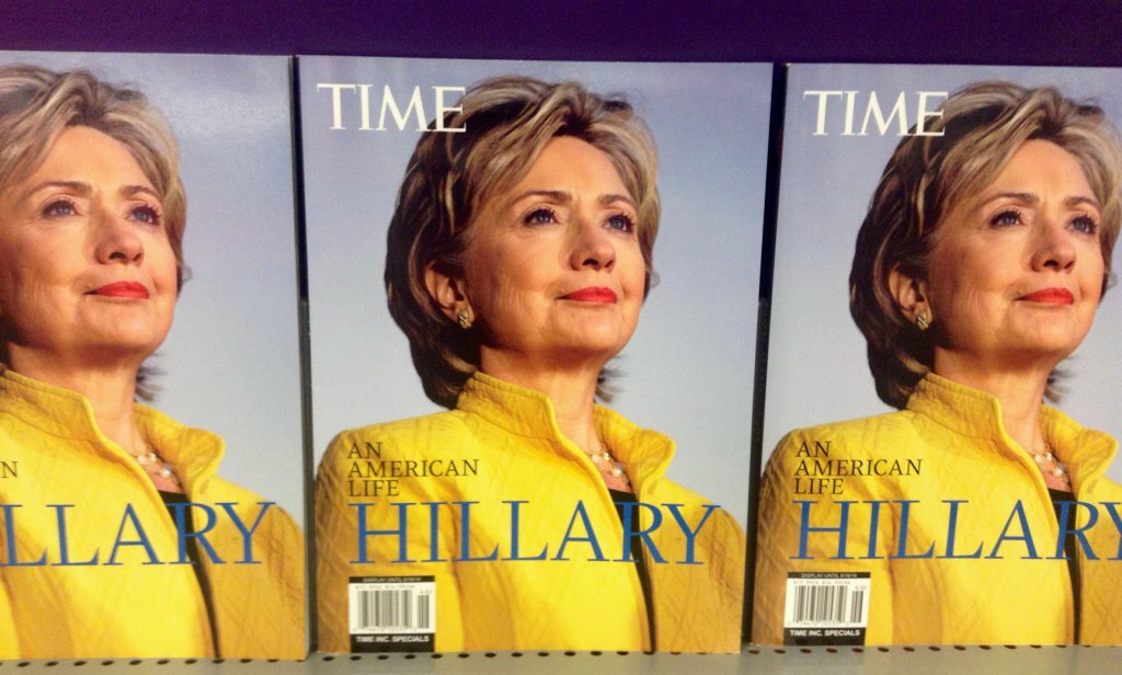 Hillary Clinton en couverture de Time Magazine en 2014. Crédit photo : Mike Mozart