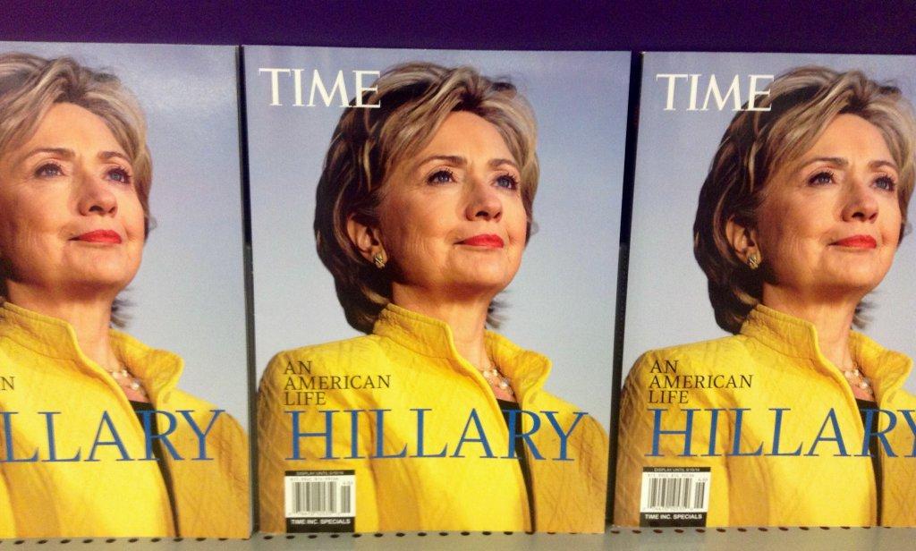 Hillary Clinton en couverture de Time Magazine en 2014. Crédit photo : Mike Mozart