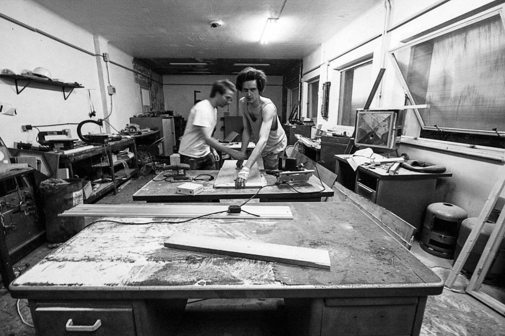 Alexandre Gain dans son atelier.