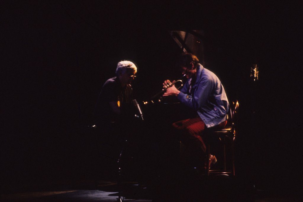 Paul Bley & Chet Baker - Théâtre St-Denis , le 3 juillet 1986 (photo: Denis Alix).
