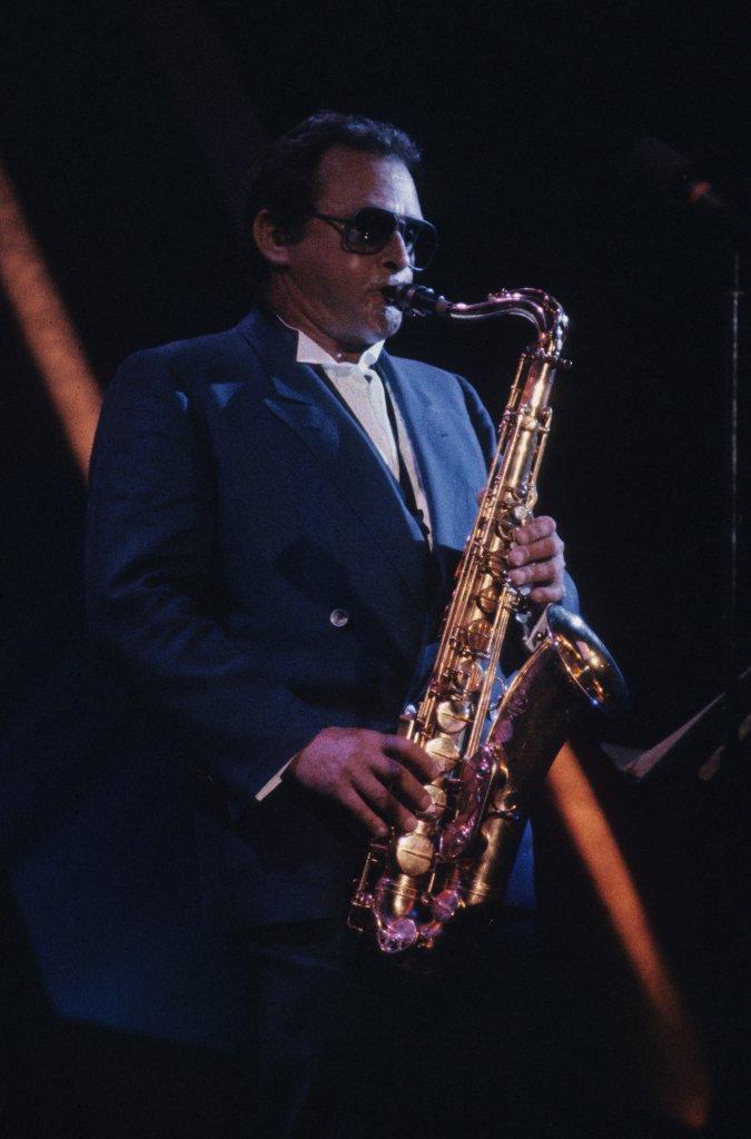 Stan Getz - Théâtre St-Denis (photo: Robert Etchevery), le 8 juillet 1983.