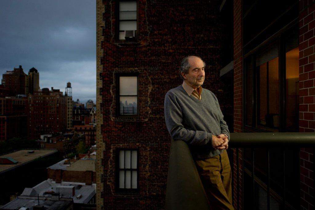 Philip Roth dans son appartement de Manhattan, en 2010.