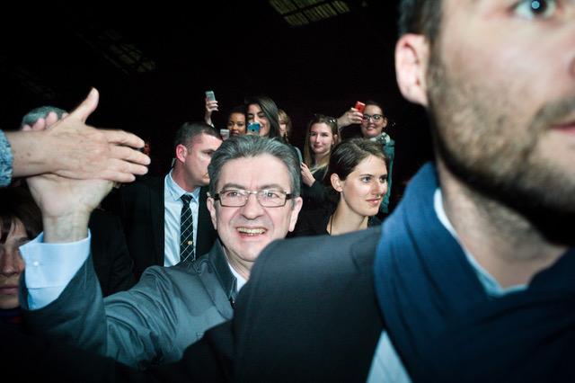 Dernier grand meeting de Jean-Luc Mélenchon avant le premier tour de la présidentielle.