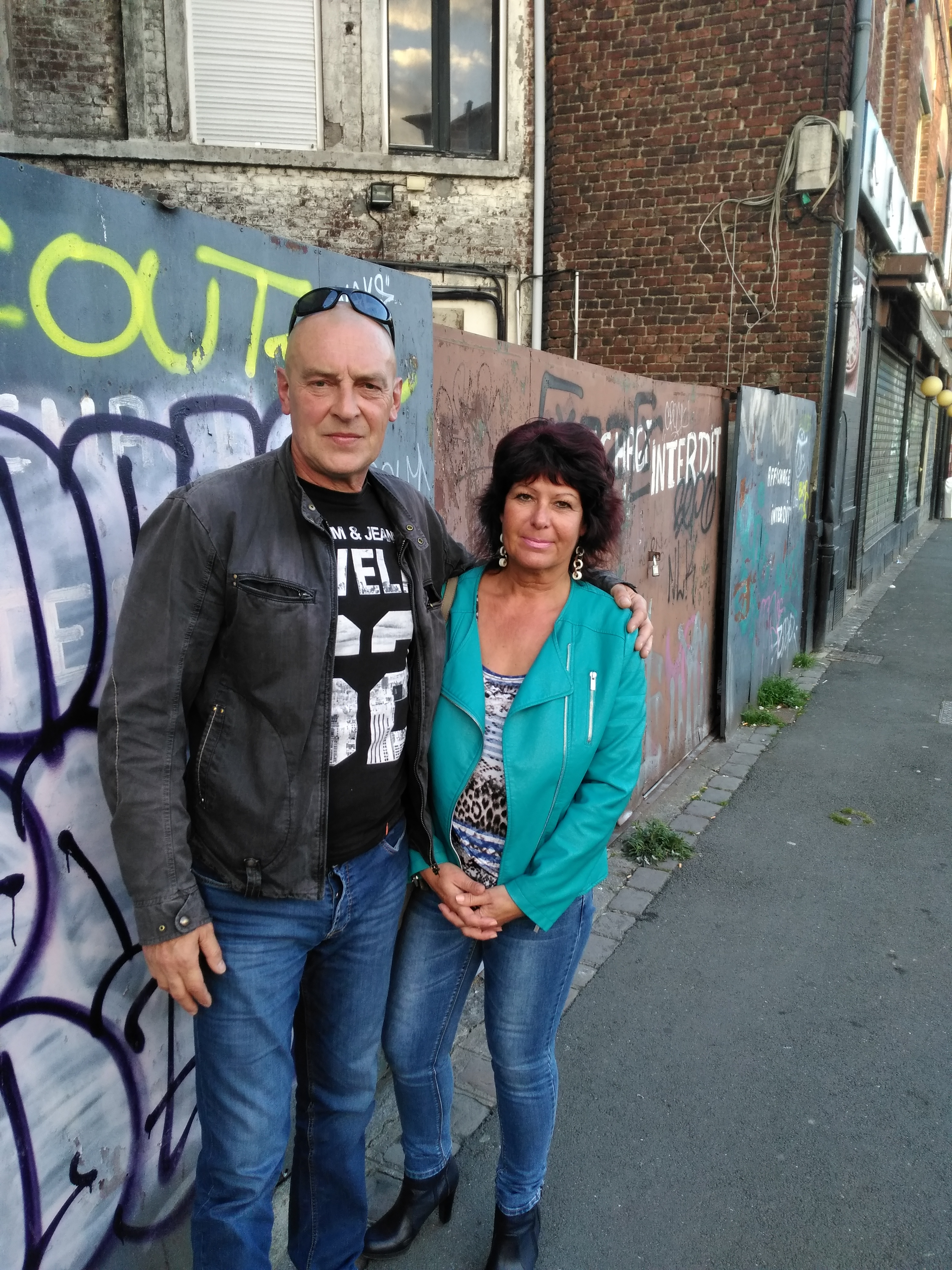 Éric Sniady et Marie-Agnès, sa compagne.